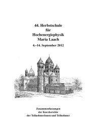 2012 - Herbstschule Maria Laach - Universität Siegen