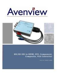 HD/SD-SDI to HDMI, DVI, Component, Composite, VGA ... - Techorium