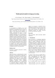 Mathematical models in image processing