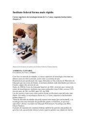 Instituto federal forma mais rápido Folha de S.Paulo 21 ... - OPEE