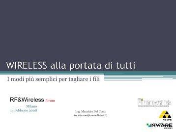 Wireless alla portata di tutti - Tecnoimprese