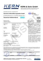 DEUTSCHER KALIBRIERDIENST - KERN & SOHN GmbH