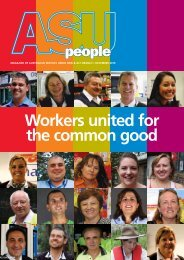 Workers united for the common good - ASU NSW