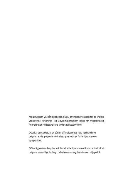 Økologiske rygsække - ressourceeffektivitet ... - Miljøstyrelsen