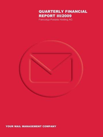 quarterly financial report iii/2009 - Francotyp-Postalia AG & Co.