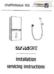 installati servicing instructions - Around Town Flats