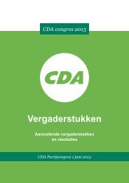 Vergaderstukken en resoluties - CDA
