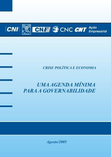 Agenda Mínima para Governabilidade - CNI