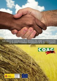 guía básica de sensibilización e información sobre la ... - Coag