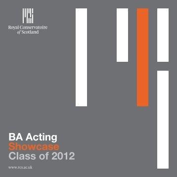BA Acting Showcase Class of 2012 - Royal Conservatoire of Scotland