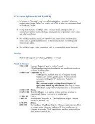 (GRK1) CTY Course Syllabus