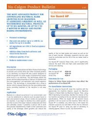 Nu-Calgon Product Bulletin
