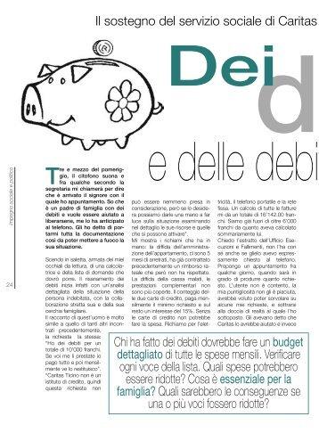 Dei debiti e delle debite ... considerazioni di Dani Noris - Caritas Ticino