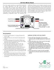 12V Victor 888 User Manual - VEX Robotics