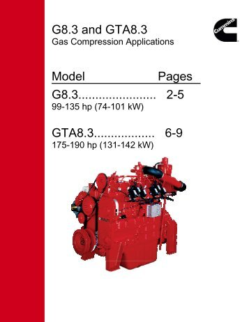 G8.3 and GTA8.3 Model Pages G8.3....................... 2-5 GTA8.3 ...