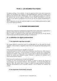 FICHE 3 : LES REGIMES POLITIQUES I - LE REGIME ... - Canalblog