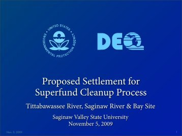 EPA PowerPoint Presentation - Tittabawassee River Watch