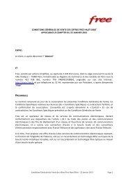 Page 1 Conditions Générales de Vente des offres Free Haut Débit ...
