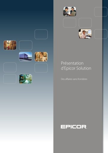 Présentation d'Epicor Solution - Zift Solutions