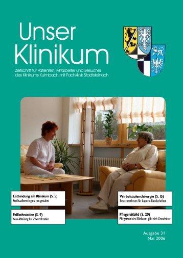 Seelsorge an der Fachklinik Stadtsteianch: Seelsorge am Klinikum ...