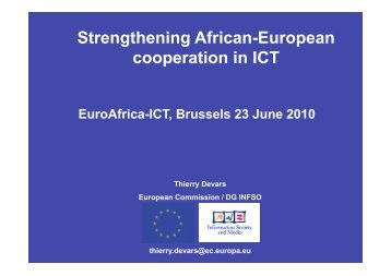 Strengthening African-European cooperation in ICT - EuroAfrica-ICT
