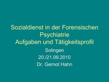 Sozialdienst in der Forensischen Psychiatrie Aufgaben und ...