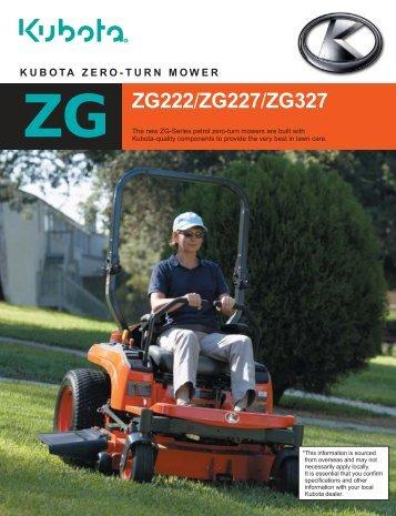 ZG ZG222/ZG227/ZG327 - Kubota