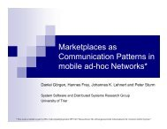 Marketplaces as Communication Patterns in mobile ad-hoc Networks*
