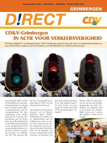 CD&V-Grimbergen IN ACTIE VOOR VERKEERSVEILIGHEID