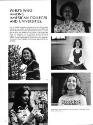 WHO'S WHO AMONG AMERICAN COLLEGES AND UNIVERSITIES