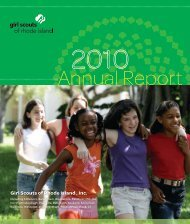 Annual Report - Girl Scouts of Rhode Island