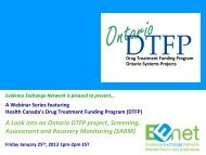 A Look into an Ontario DTFP project, Screening ... - EENet