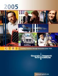 GTRI 2005 Annual Report - Georgia Tech Research Institute