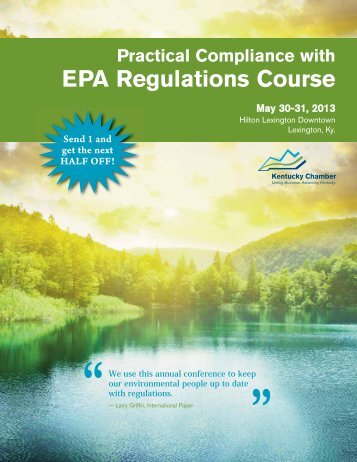 Practical Compliance with EPA Regulations Course - Kentucky ...