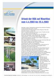 Reisebericht Mauritius Kurzfassung - Happy Divers Asselfingen