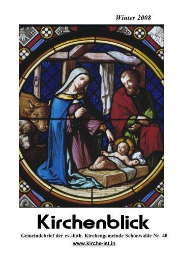 Kirchenblick - November 2008 als pdf-File - Ev.