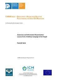Awareness and Information Dissemination - India-EU migration
