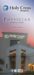 physician directory - Holy Cross Hospital
