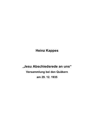 T-0128 - Jesu Abschiedsrede an uns - Heinz Kappes