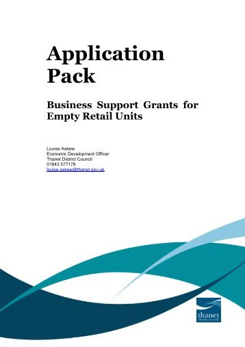 Business Support Grants for Empty Retail Units - Thanet District ...