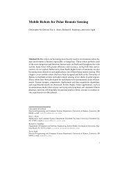 Mobile Robots for Polar Remote Sensing - Center for Remote ...