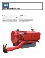 pump monitoring device flyer - front - Weir Oil & Gas Division