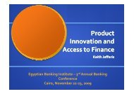 Product Innovation and Access to Finance - Econsult Botswana