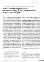Lokale Antibiotikagabe versus Instrumentierung ... - Zahnheilkunde.de