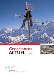 Geoscience ACTUEL 4/2008 - Platform Geosciences - SCNAT