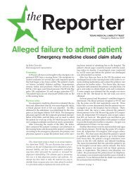 Emergency Medicine 2009 Reporter - TMLT