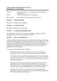 Lovutvalgets protokoll 13. januar 2007 - Norges idrettsforbund