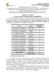EDITAL Nº 01/2012 - IFBA - Campus Eunápolis