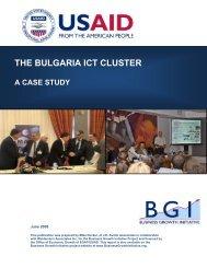 The Bulgaria ICT Cluster - Economic Growth - usaid
