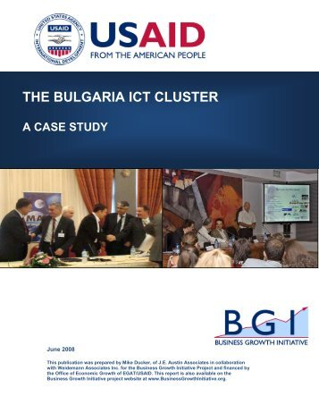 The Bulgaria ICT Cluster - Economic Growth - usaid